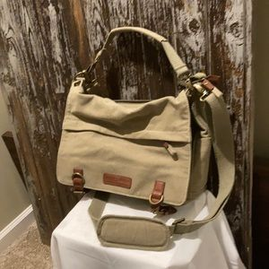 Canvas material Kelly Moore messenger bag